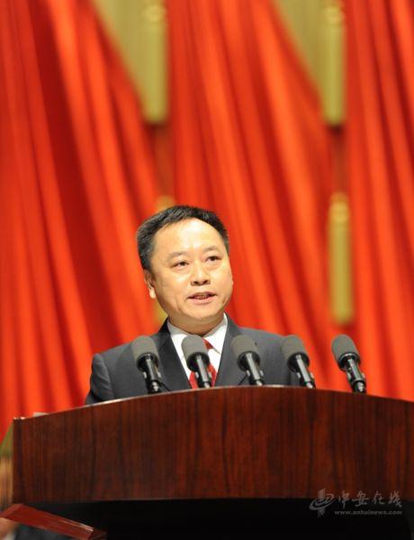 安徽省代省长李国英作政府工作报告。记者 许梦宇摄