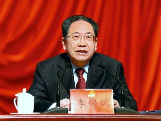 6月19日,省委书记李锦斌在中国共产党安徽省代表会议上发表讲话。记者徐国康摄