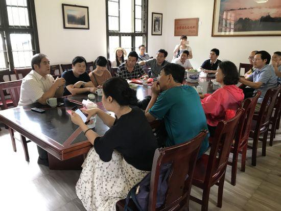 网络作家一行在南平市浦城县双同村进行座谈交流