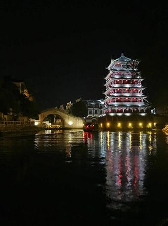 三河古镇夜景
