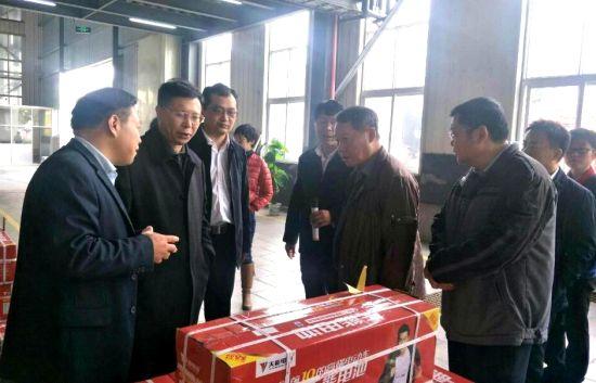 专家一行在天能电池集团(安徽)有限公司参观调研