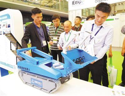 新一代下水道清淤机器人亮相第十九届环博会
