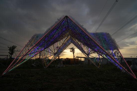 环保装置艺术作品_《一抹颜色》环保装置艺术作品将在肥亮相_中新网_安徽新闻