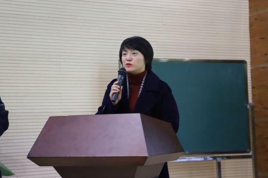 合肥市育新小学校长姚庆致欢迎辞