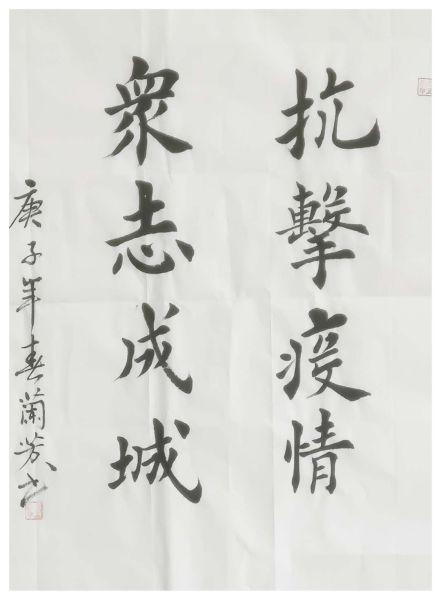 《抗击疫情 众志成城》武兰芳作品