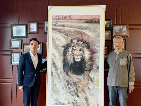 张家豪收藏许一川代表作《黄河狮吼》