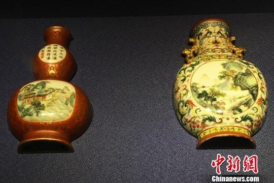 安徽展出百余件景德镇窑皇家瓷器 乾隆御用笔筒受关注