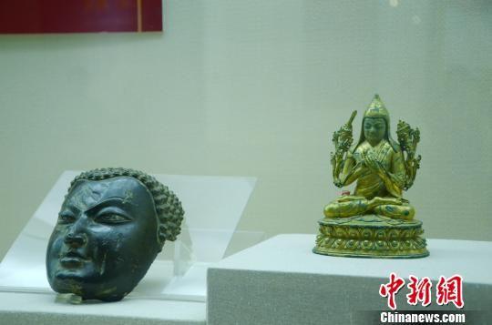 """安徽举办西藏山南文物精品展 解读多元""""藏地密码"""""""