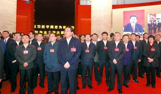 安徽省代表团参观