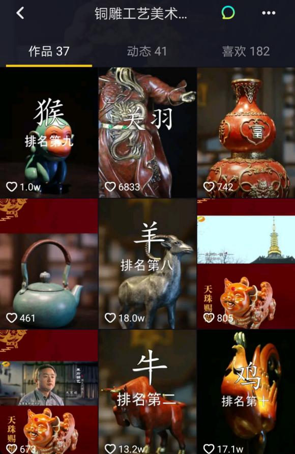 进入世界艺术史教材的中国铜雕宗师 让抖音网友为这项非遗点赞百万