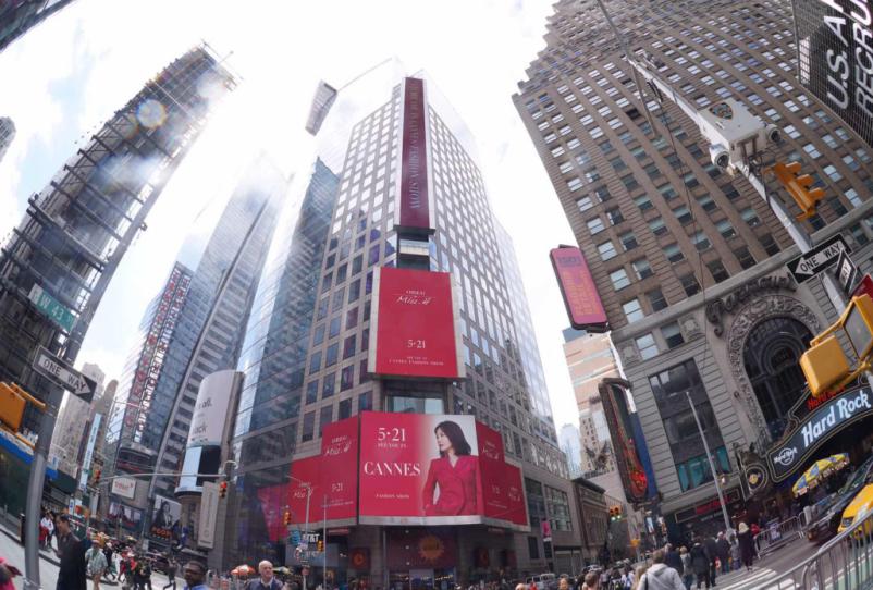 OBEG亮相纽约时代广场丨中国时装的国际化之路