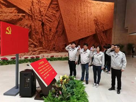 中建三局一公司合肥联投书城项目参观渡江战役纪念馆学党史
