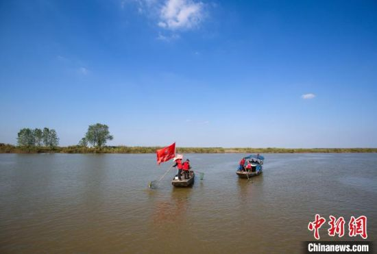 安徽铜陵:银发护卫队 守护一江碧水
